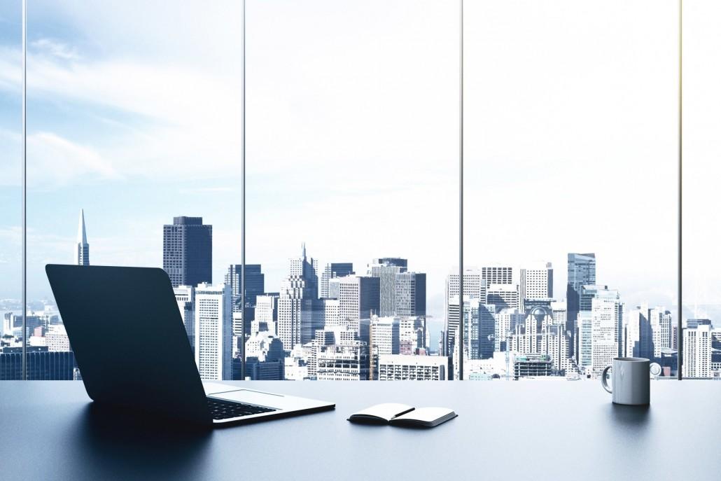 interior-design-style-office-desktop-notebook-notebook-notes-pen-mug-window-nice-view-business-center-high-rise-buildings-travel-my-planet-blur-bokeh-wallpaper